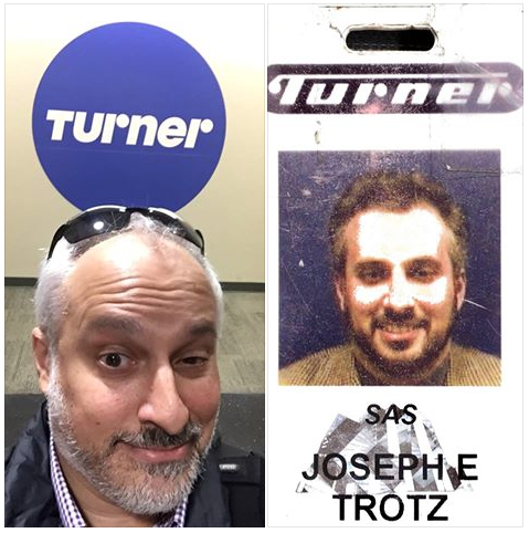 My ID photo from my first day of work in 1998 - the other on my last day in the office in 2015.